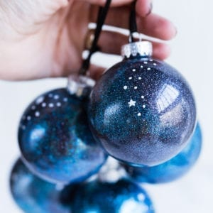 Deck the Halls with Glittery Galaxy Inspired Homemade Ornaments thumbnail