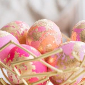 DIY Gold Leaf Shaving Cream Easter Eggs thumbnail