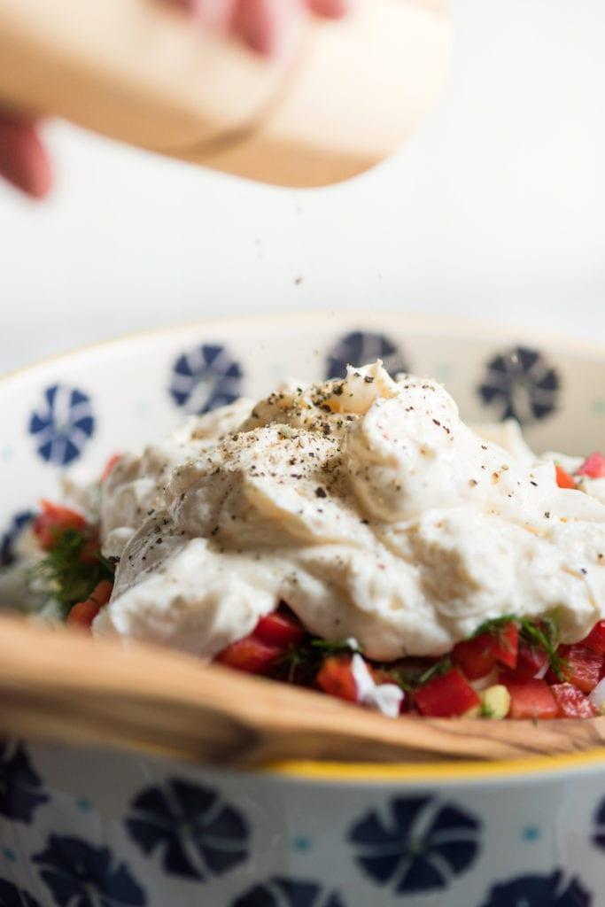 The Best Potato Salad Recipe - Summer Salad Recipes from entertaining blog @cydconverse