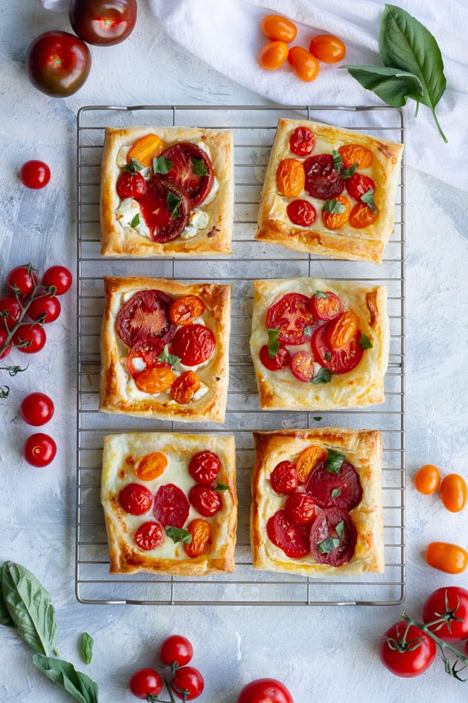Summer Appetizers: Tomato Tart Recipe - Easy Party Appetizers