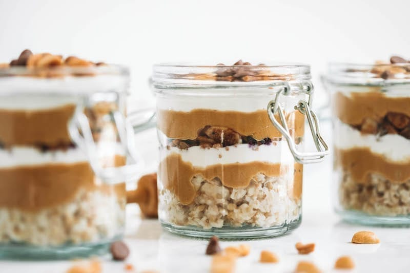 Peanut Butter Breakfast Parfaits - Easy Breakfast Ideas