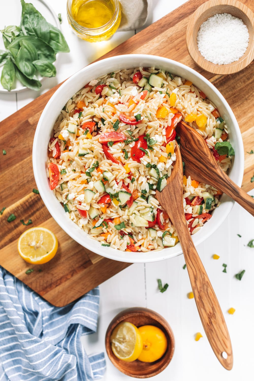 Mediterranean Orzo Salad with Feta