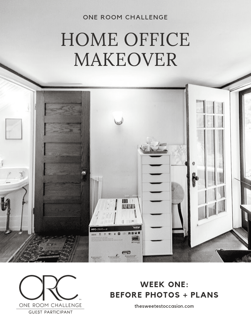 One Room Challenge: Home Office Makeover