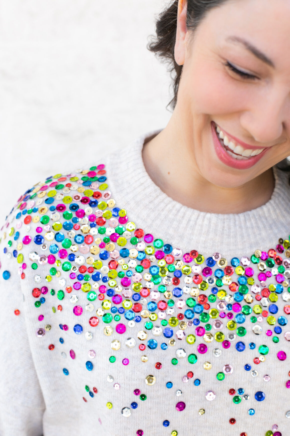 DIY Gifts for Mom: DIY Sequin Sweater