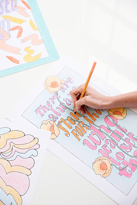 DIY Gifts for Mom: Printable Coloring Pages