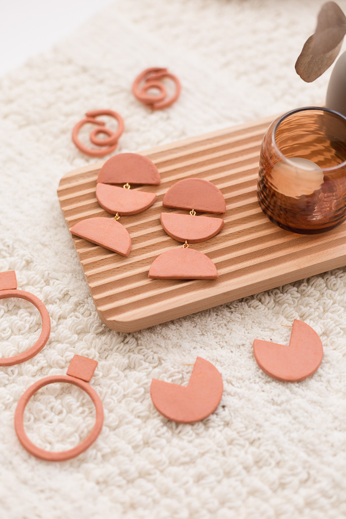 DIY Gifts for Mom: DIY Terracotta Earrings