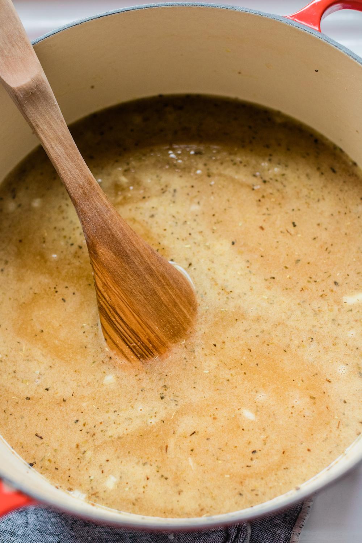 Making Tortellini Soup