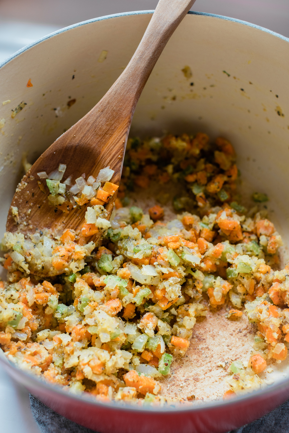 Mirepoix with a Roux