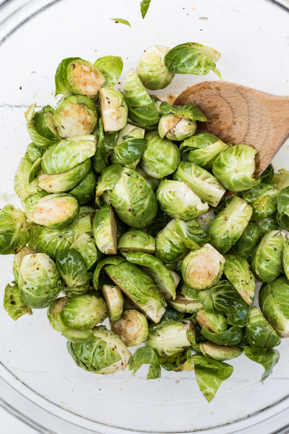 Making Roasted Brussels Sprouts