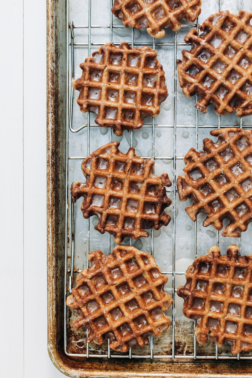Glazed Apple Fritter Waffles